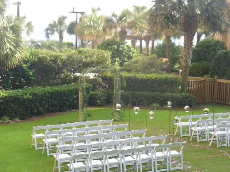 Beach Wedding Ceremony Brighton Courtyard Lawn Kingston Plantation Myrtle