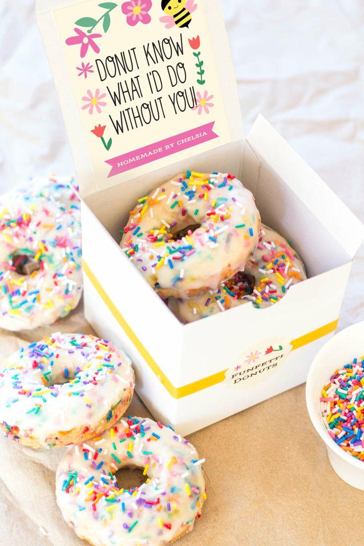 Teacher Appreciation Gifts: Funfetti Donuts | Evermine Blog | www.evermine.com