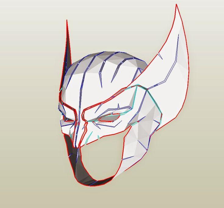 Dali-Lomo: X-Men Wolverine Costume Mask/Cowl DIY - Cardboard (with template)