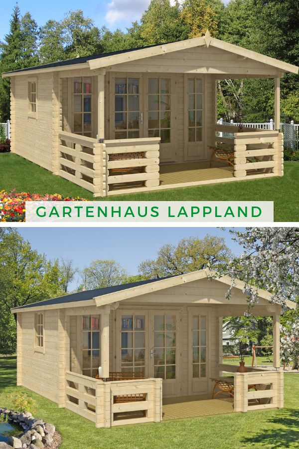 Alpholz Gartenhaus Lappland A ISO Gartenhaus, Haus und