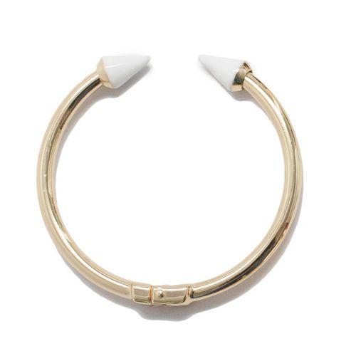 White Enamel Spike Bracelet
