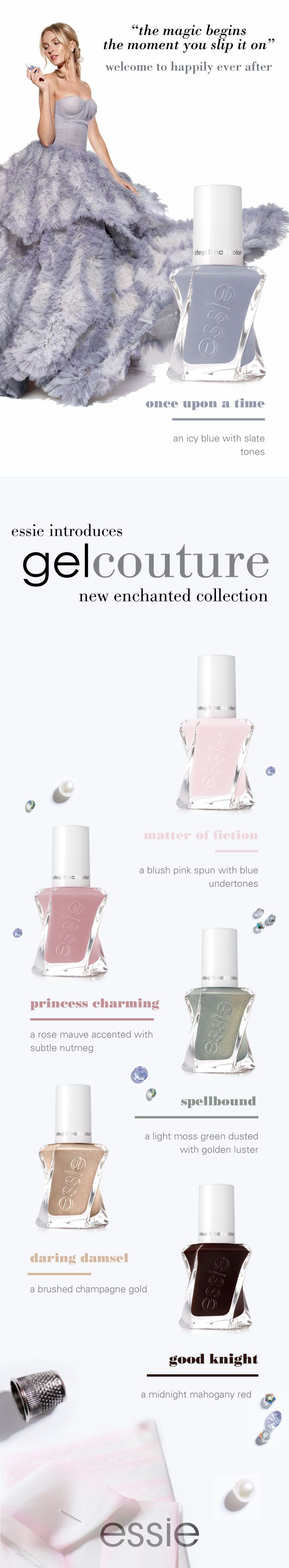 113 best gel couture images on pinterest dupes wedding nail and happily ever after comes to life like never before with the essie gel couture enchanted collection parisarafo Images