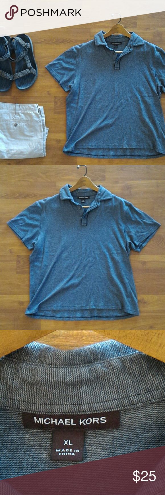 Michael Kors Grey Polo tee shirt Grey Polo shirt in great and gently used condition. Shirts Polos
