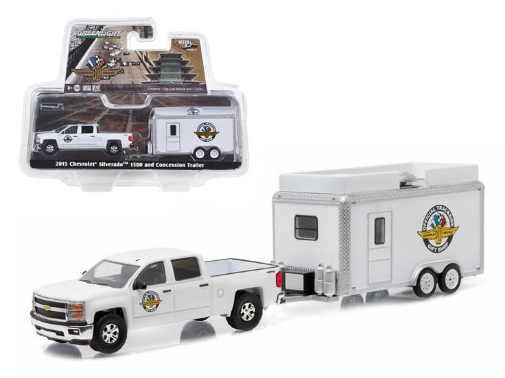 2015 Chevrolet Silverado 1500 and IMS Gift Shop Trailer Hitch & Tow Series 6 1/64 Diecast Model by Greenlight - Brand new 1:64 scale car model of 2015 Chevrolet Silverado 1500 and IMS Gift Shop Trailer Hitch & Tow Series 6 die cast car model by Greenlight. Limited Edition. Detailed Interior, Exterior. Metal Body. Comes in a blister pack. Officially Licensed Product. Dimensions Approximately L-7 Inches Long.-Weight: 1. Height: 6. Width: 11. Box Weight: 1. Box Width: 11. Box Height: 6. Box…