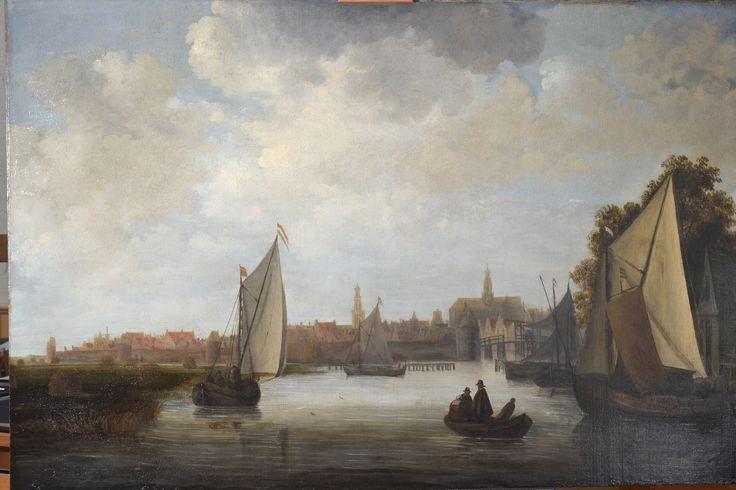 Gezicht op Haarlem - na behandeling - Restauratieatelier Haarlem