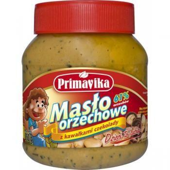 Masło orzechowe z kawałkami czekolady (350 g) - Primavika