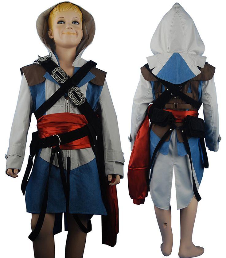 assassin 39 s creed iv edward kenway cosplay costume jacket for kids children halloween costume. Black Bedroom Furniture Sets. Home Design Ideas