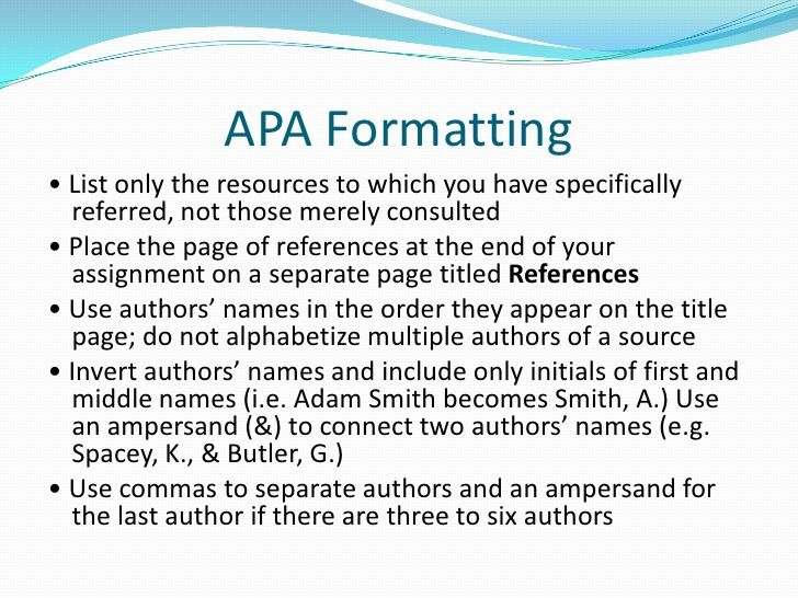 apa cover page style