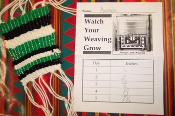 Great site for connecting art cross-curricular.  Love this math measurement and weaving project!
