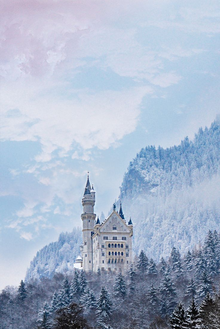 Neuschwanstein Castle In The Bavarian Alps In Germany I Love This Castle So Much Neuschwanstein Castles Places To Travel Europe Travel Castle