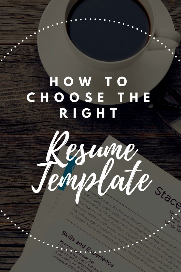 How to choose the right resume templates