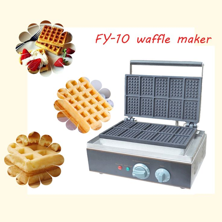 2pc FY-10 square for waffle maker waffle grill cake oven/ waffle machine/Ten grid waffle machine //Price: $US $209.00 & FREE Shipping //     #kitchenappliances