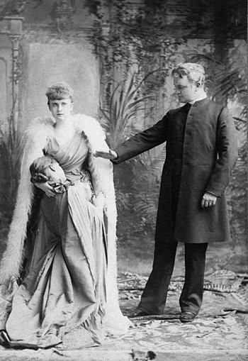 It was highly embarrassing, but Lord Russell was unable to get his wife to go anywhere without her sister's severed head. ????