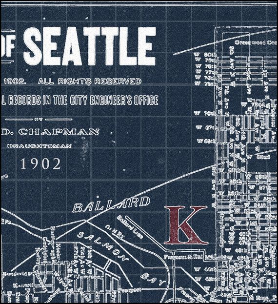 44 best blueprint maps images on pinterest long island rhode seattle map map of seattle blueprint map pacific north west seattle vintage map 1902 malvernweather Images
