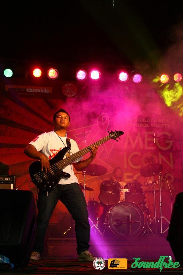 Identical Pro Section Image vocalist/bassist: Wealthy Sunn, drummer: Rang Symond Kurbah