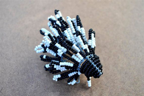 Beaded Porcupine African wire sculpture by akwaabaAfrica on Etsy, $10.00