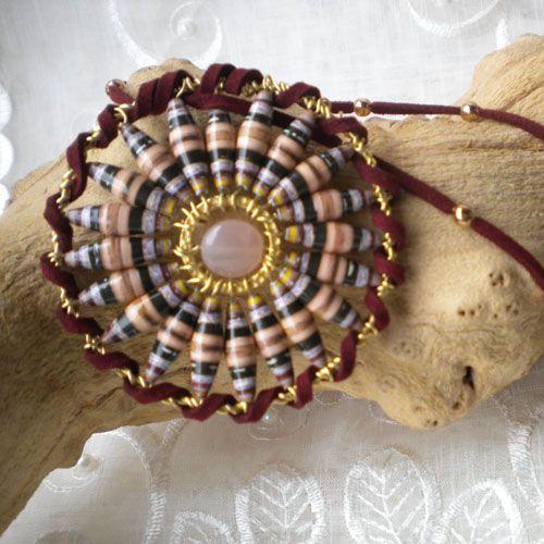 Paper Bead Mandala Necklace