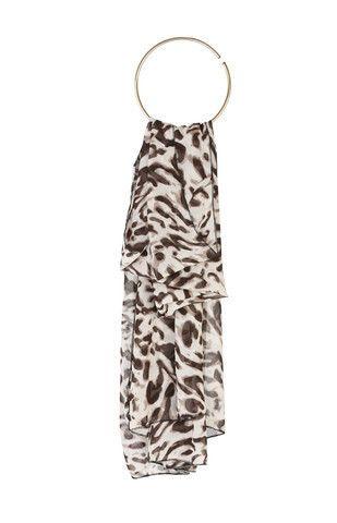 Leopard Print Soft Feel Scarf