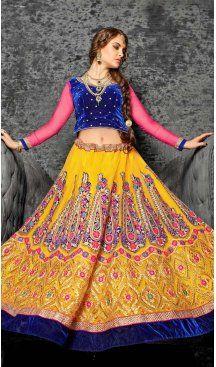 Yellow Color Jacquard Silk Circular Style Lehenga Choli | FH586586337