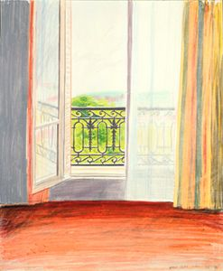 By David Hockney I like the lively tone of the painting and the consequent uplifting feel