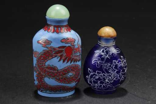 Lot: A Group of Two Chinese Snuff Bottles, Lot Number: 0211, Starting Bid: $60, Auctioneer: Jumbo Auction House, Auction: Important November Asian Works of Arts, Date: November 4th, 2017 EDT