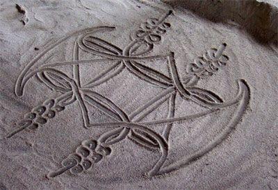 VANUATU AUX sand drawing