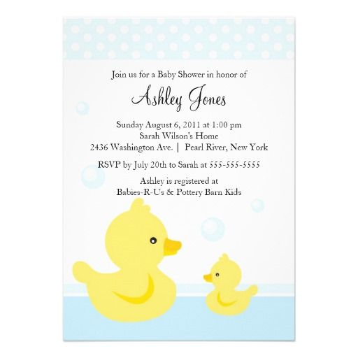 CUTE Duck Baby Shower Invitation