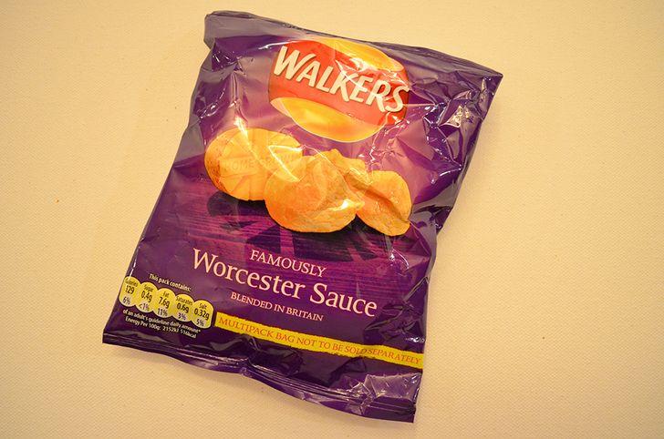 British Worcester Sauce Crisps - World of Snacks