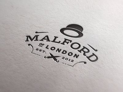Malford Stamp  Great retro/classic feel. Simple, memorable. love the umbrellas crossed at the bottom.  #logo #logodesign #branding