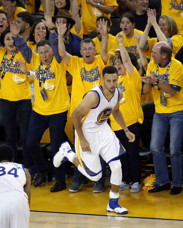 Fans in Oakland had plenty to cheer about as Stephen Curry and the rest of the Warriors demolished the Cavaliers in Game 2 of the NBA Finals.