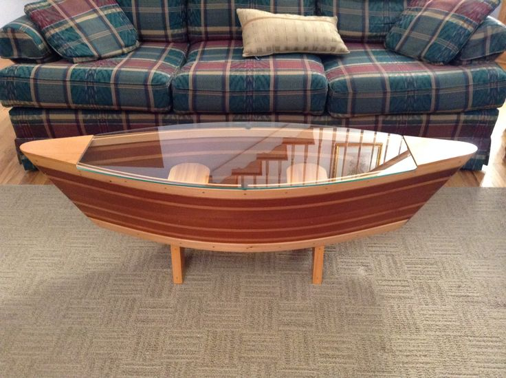 Canoe Coffee Table Boat Shelf 5ft Canoe Shaped Coffee Sofa