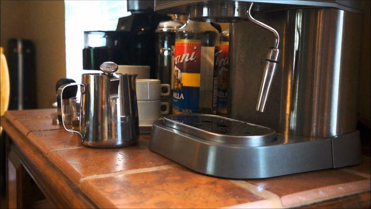 Make a Hazelnut Latte using Gaggia Baby Twin -- LOVE his coffee bar setup.