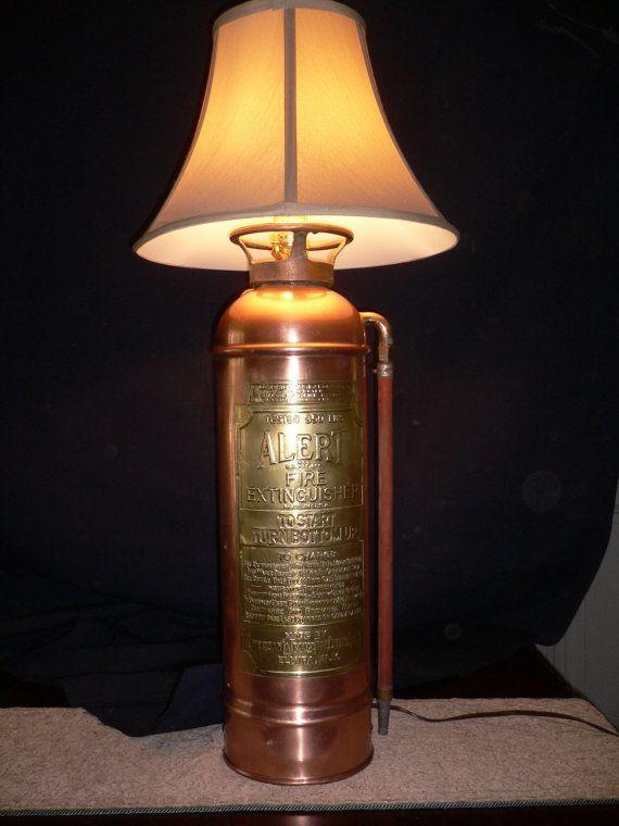 Fire Extinguisher Lamp Antique Copper Copper I Am And