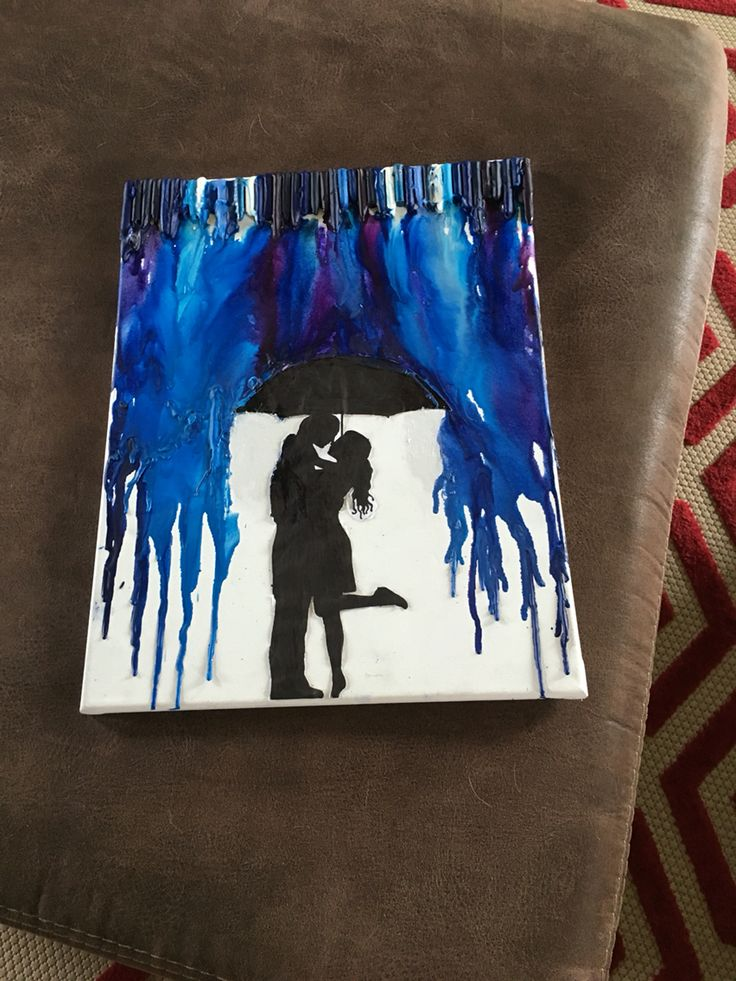 My melted crayon project. 💑🌂