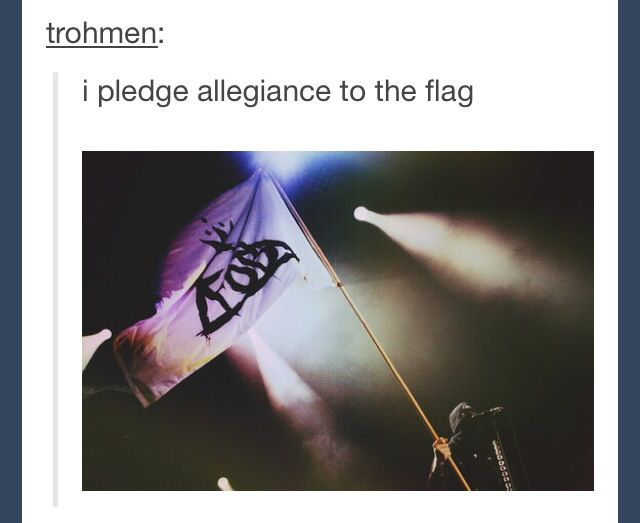 Of Fall Out Boy, and to the army which it stands one nation under Fall Out Boy indivisible in justice for ALL of humanity