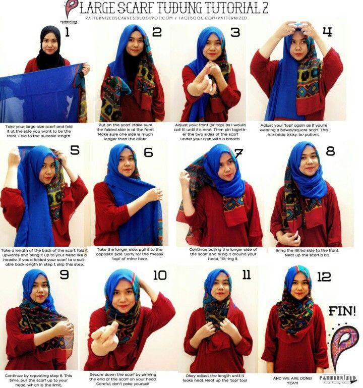 12 Step Hijab Tutorial Pinterest