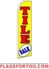 Tile Sale (Yellow) Feather Flag 2.5' x 11.5'