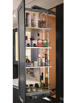 Pull-Out & Swing Kitchen Pantry Organizer by Hafele | KitchenSource.com