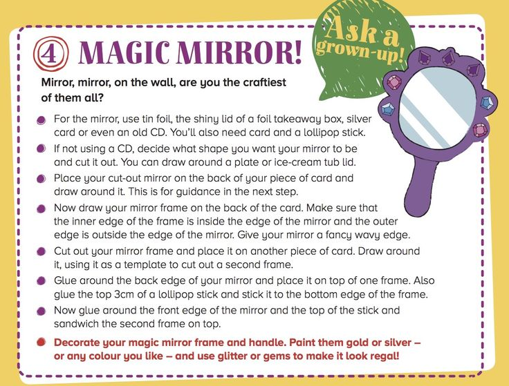 Mirror, mirror on the wall - find out who's the fairest of them all! Make a mirror for our Storytime Issue 16 fairytale! ~ STORYTIMEMAGAZINE.COM
