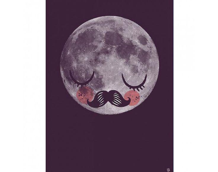 Plakát 50x70 Měsíc pro Neila (Moon Für Neil) od OMM Design | DesignVille