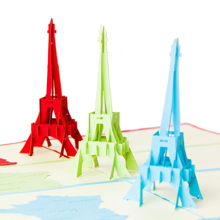 Find More Paper Crafts Information about 10pcs Originality Pop Up Origami Hollow Out 3D Kirigami Paper Sculpture Greeting Card Eiffel Tower Model Birthday Lover Gifts,High Quality gift card party invitations,China gift cards for kids Suppliers, Cheap gift card holder cards from Handicraftsman on Aliexpress.com