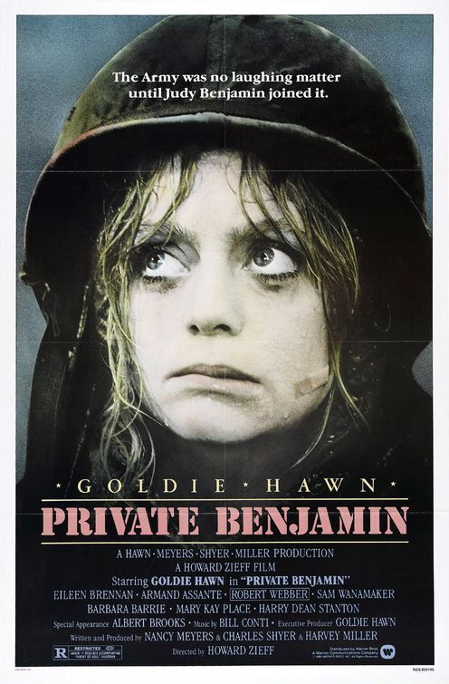 "Private Benjamin  ""What, the Army couldn't afford drapes? I mean, I'll be up at the crack of dawn here!"""