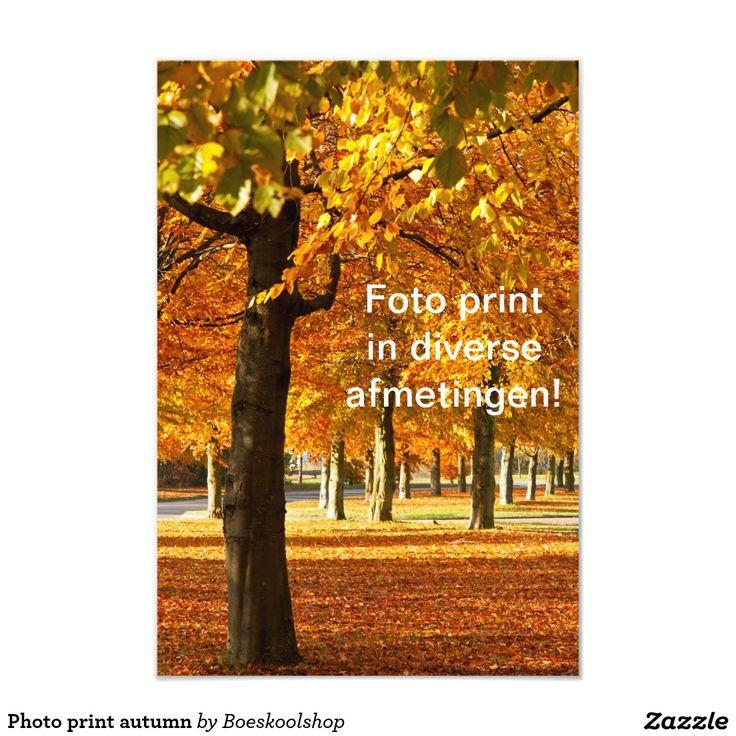 Fotoprint met herfstlandschap in Oldenzaal. Tekst is verwijderbaar c.q. aanpasbaar qua lettertype, kleur, grootte en locatie!