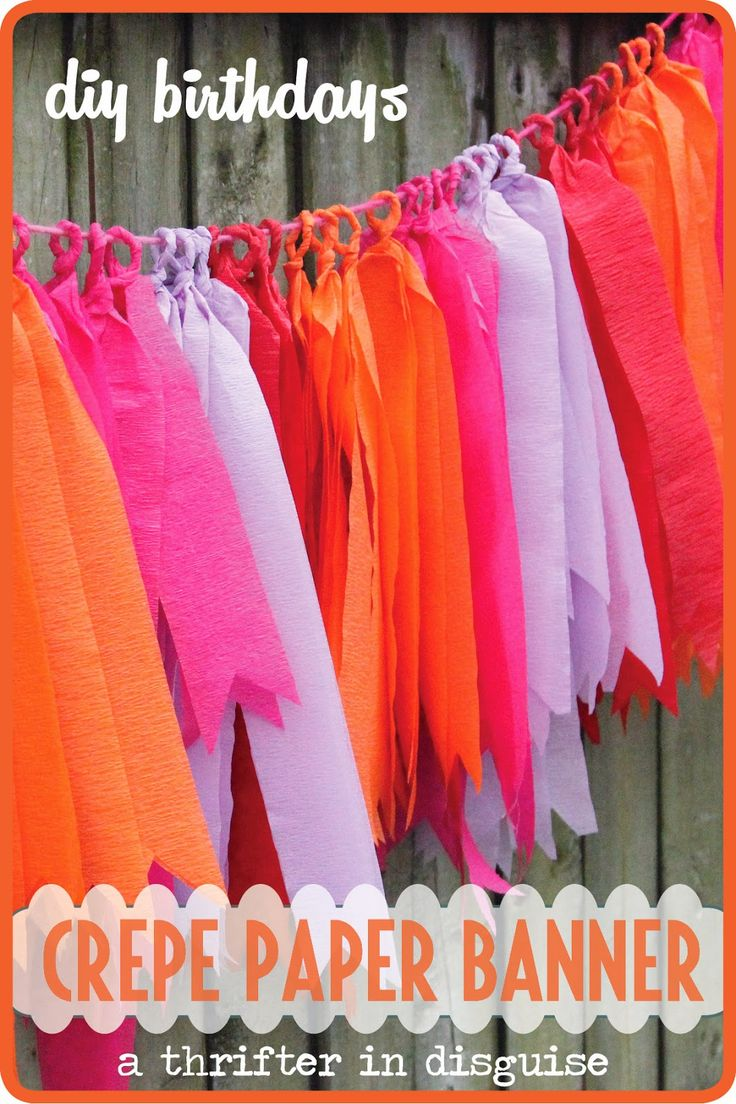 A Thrifter in Disguise: DIY Crepe Paper Party Banner