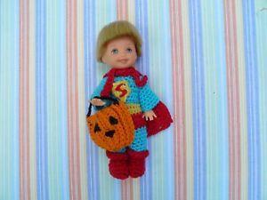 Barbie/Kelly size Crochet 'Superman' Halloween Costume  | eBay