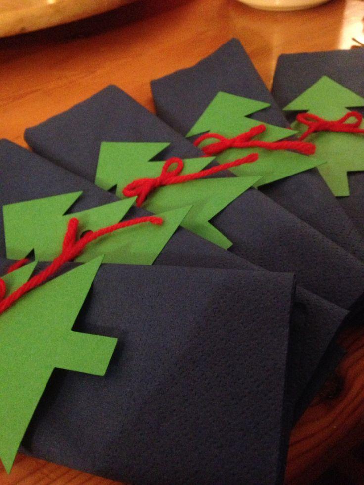 #portatovagliolo #natalizio #natale #abete #lana #silhouettecameo