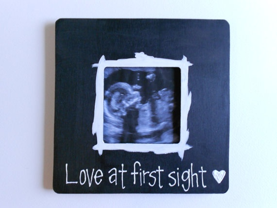 Baby Ultrasound Picture Frame Sonogram by YourSweetPeas on Etsy, $14.00