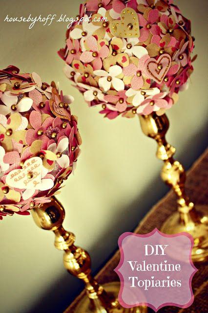 House by Hoff: Valentine Week: DIY Valentine Topiaries