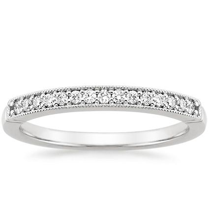 18K White Gold Heirloom Diamond Ring from Brilliant Earth