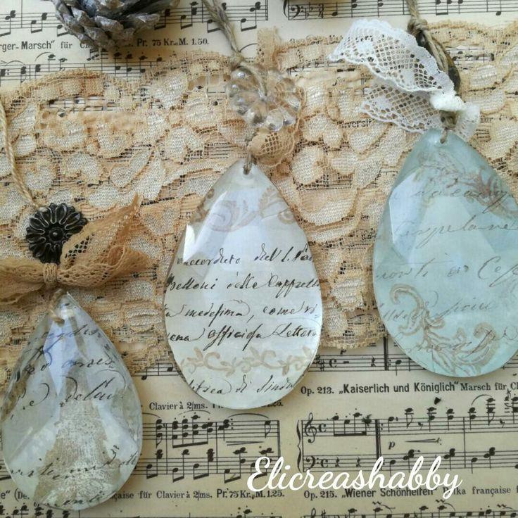 Gocce di cristallo decorate Elicreashabby
